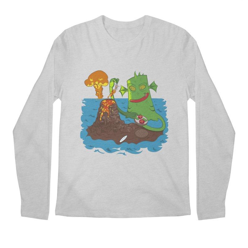 Sea monter burguer Men's Longsleeve T-Shirt by juliusllopis's Artist Shop