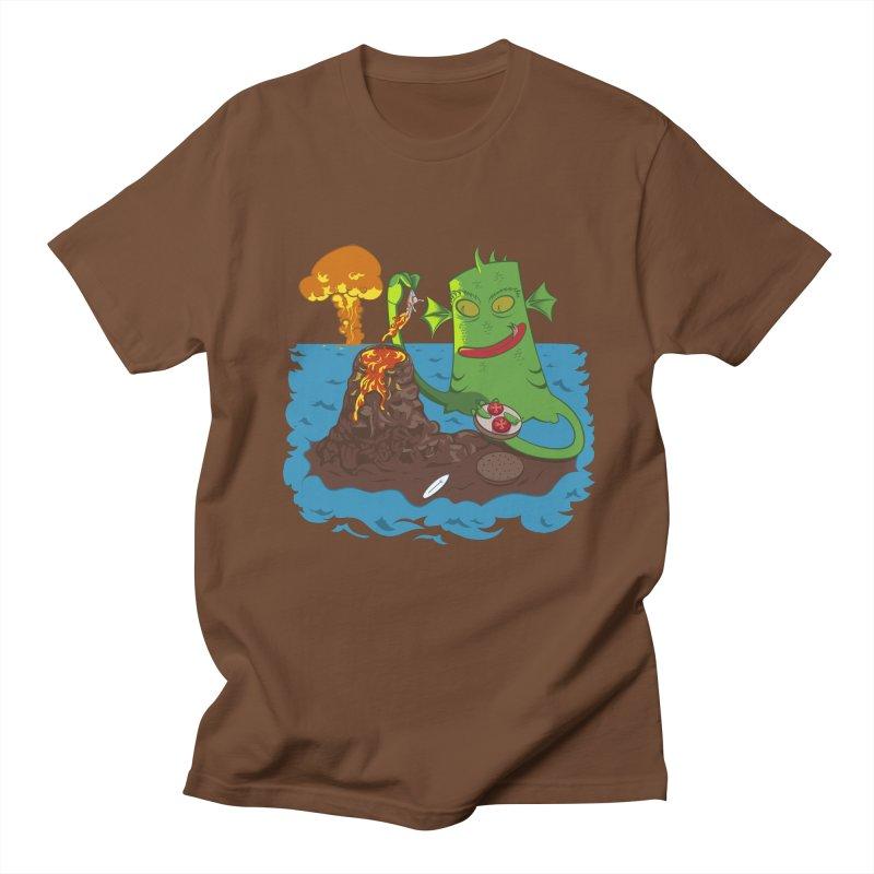 Sea monter burguer Men's T-shirt by juliusllopis's Artist Shop