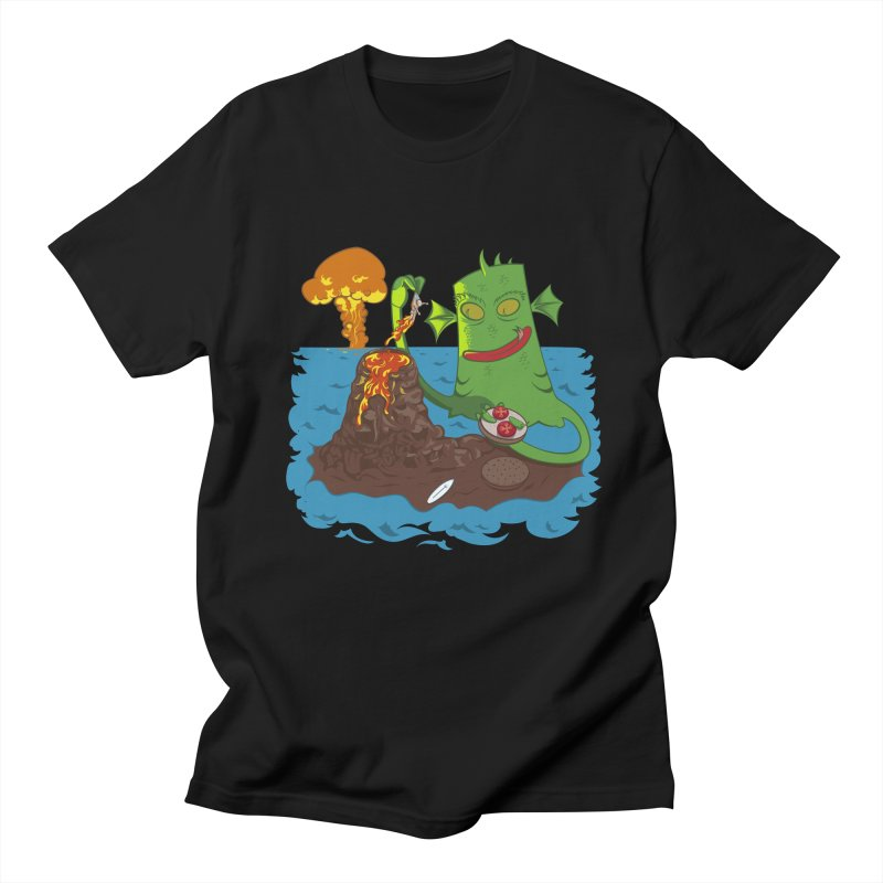 Sea monter burguer Men's Regular T-Shirt by juliusllopis's Artist Shop