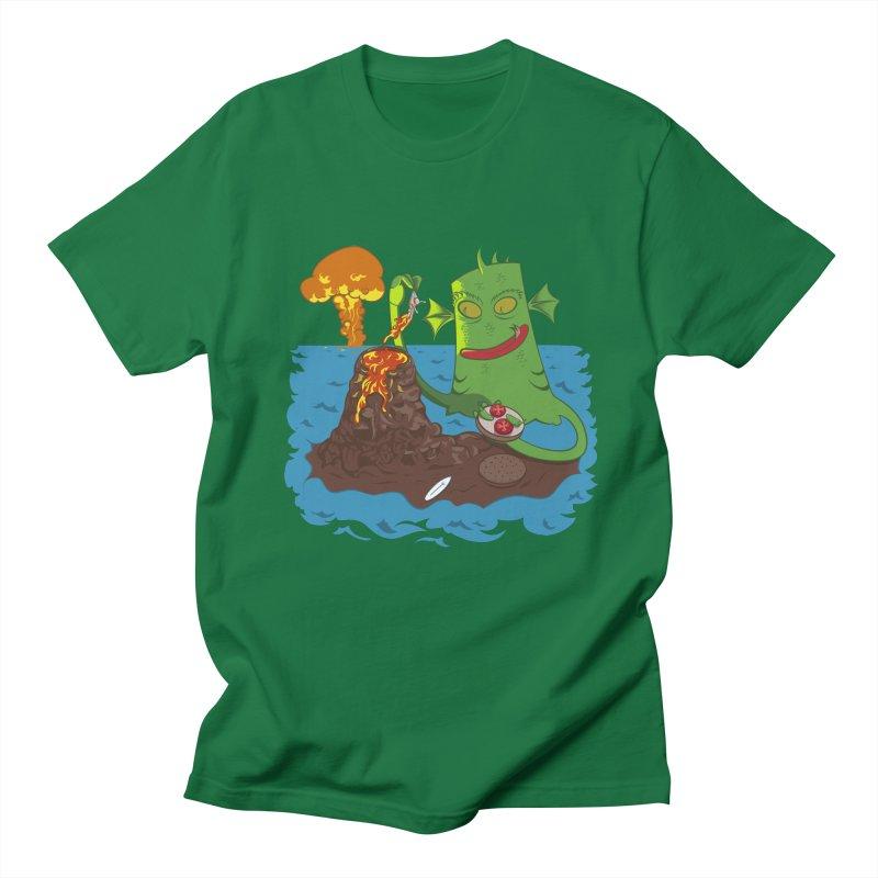 Sea monter burguer Men's Regular T-Shirt by juliusllopis's Artist Shop