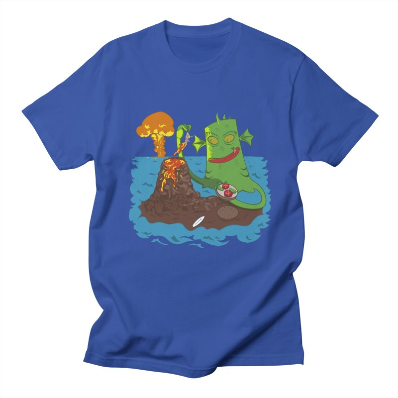 Sea monter burguer Men's T-Shirt by juliusllopis's Artist Shop