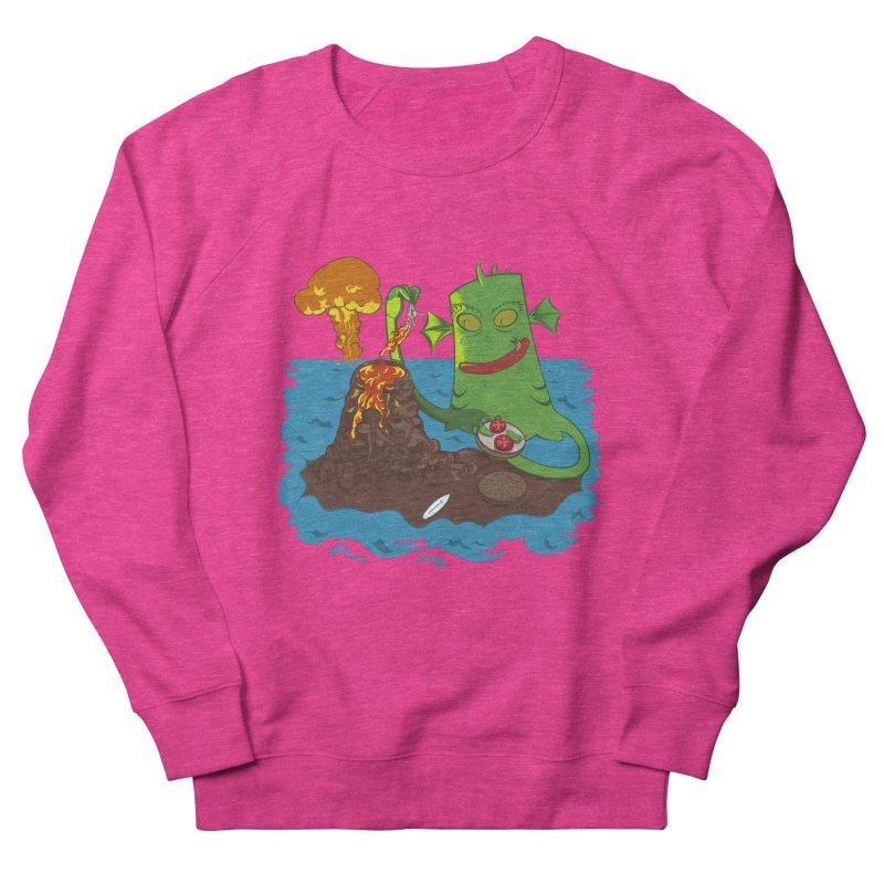 Sea monter burguer Women's French Terry Sweatshirt by juliusllopis's Artist Shop
