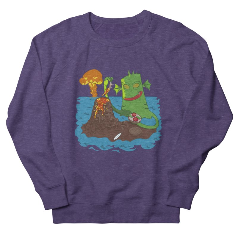 Sea monter burguer Men's Sweatshirt by juliusllopis's Artist Shop