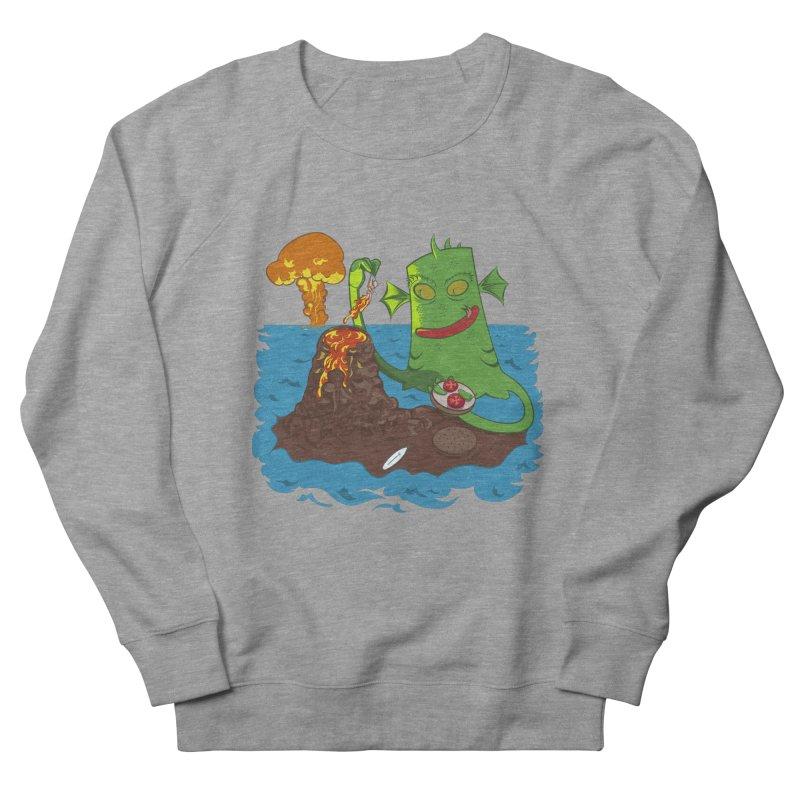 Sea monter burguer Men's French Terry Sweatshirt by juliusllopis's Artist Shop