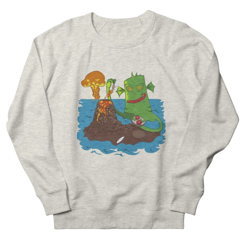 Sea monter burguer Men's Sweatshirt by juliusllopis's Artist Shop