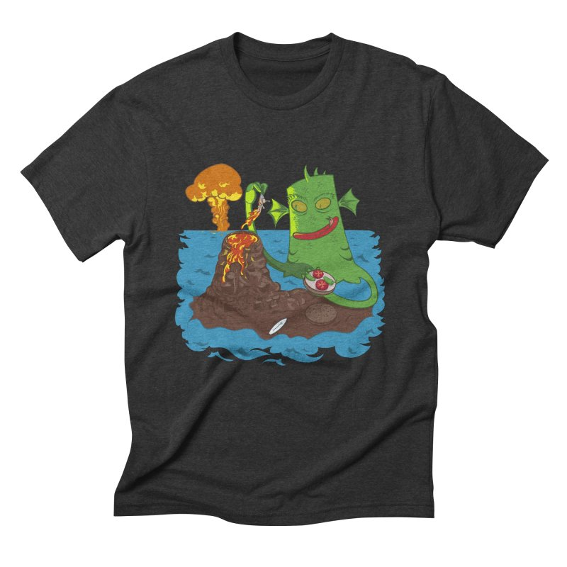 Sea monter burguer Men's Triblend T-Shirt by juliusllopis's Artist Shop
