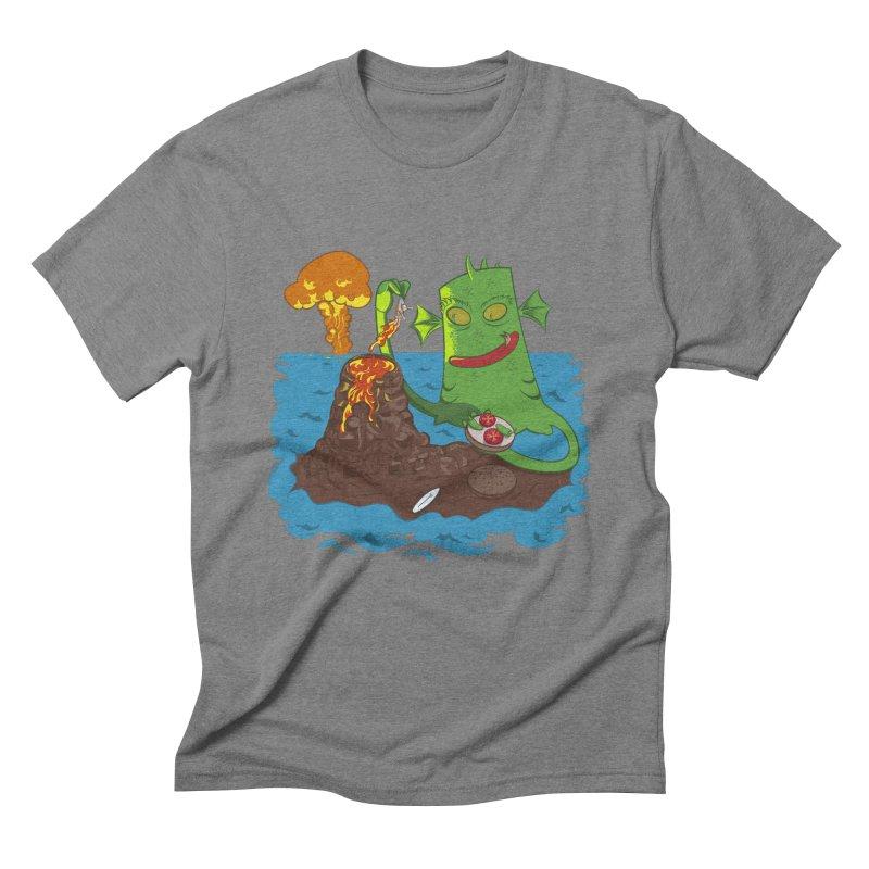 Sea monter burguer Men's Triblend T-Shirt by juliusllopis's Artist Shop