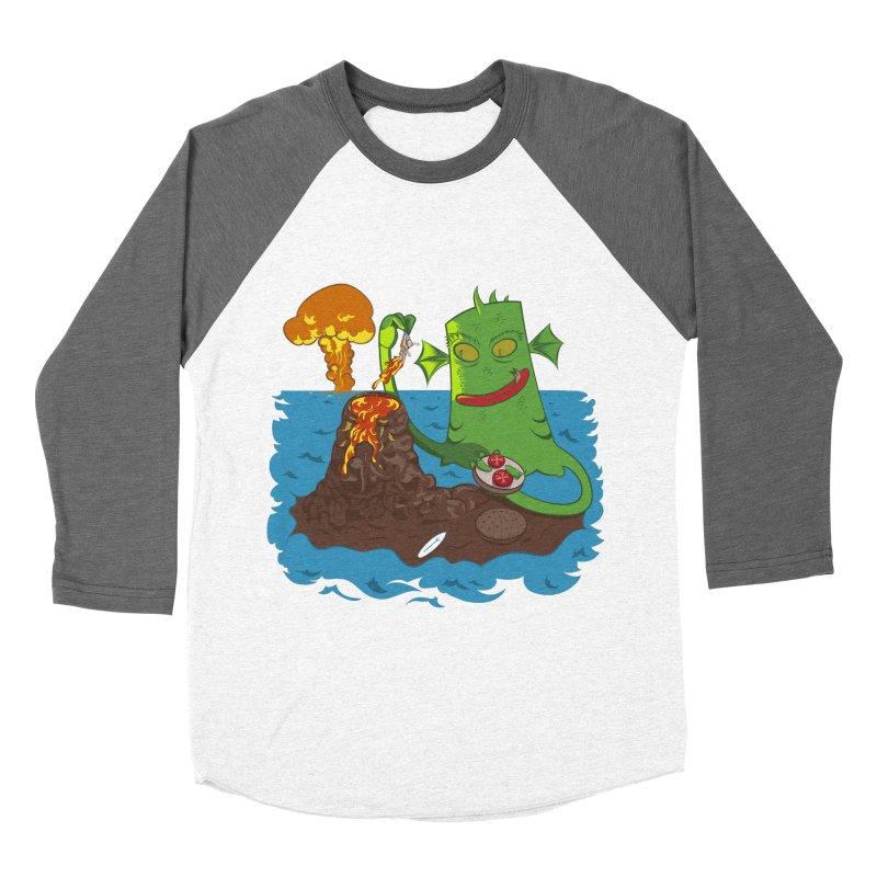 Sea monter burguer Women's Baseball Triblend T-Shirt by juliusllopis's Artist Shop