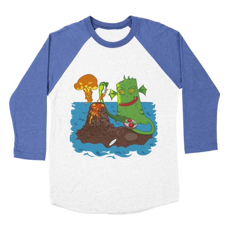 Sea monter burguer Men's Baseball Triblend T-Shirt by juliusllopis's Artist Shop