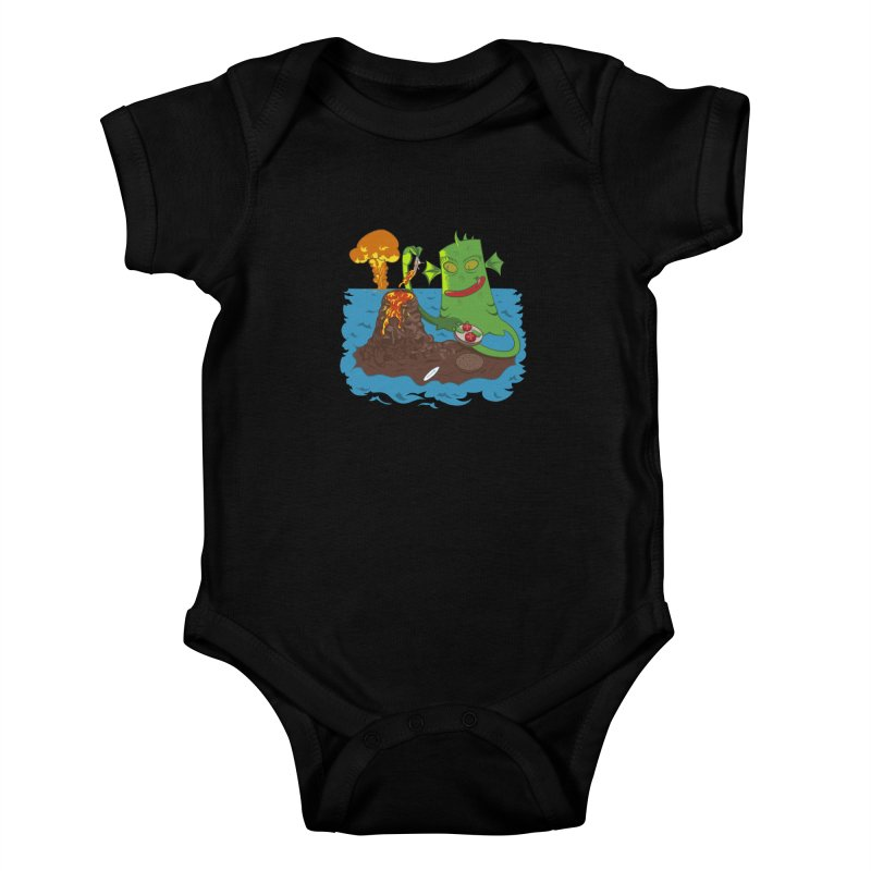 Sea monter burguer Kids Baby Bodysuit by juliusllopis's Artist Shop