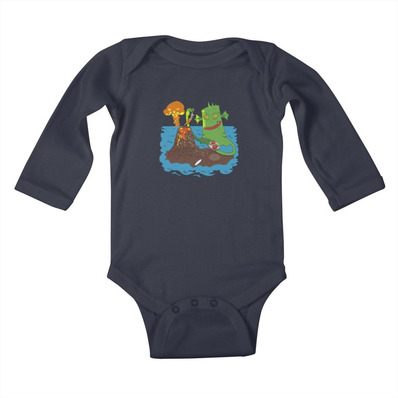 Sea monter burguer Kids Baby Longsleeve Bodysuit by juliusllopis's Artist Shop