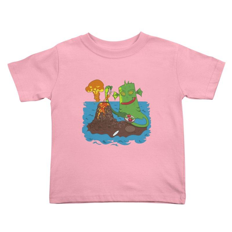 Sea monter burguer Kids Toddler T-Shirt by juliusllopis's Artist Shop