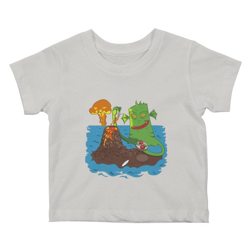Sea monter burguer Kids Baby T-Shirt by juliusllopis's Artist Shop