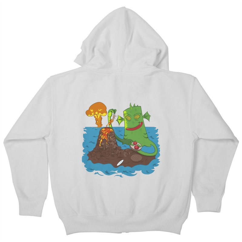 Sea monter burguer Kids Zip-Up Hoody by juliusllopis's Artist Shop