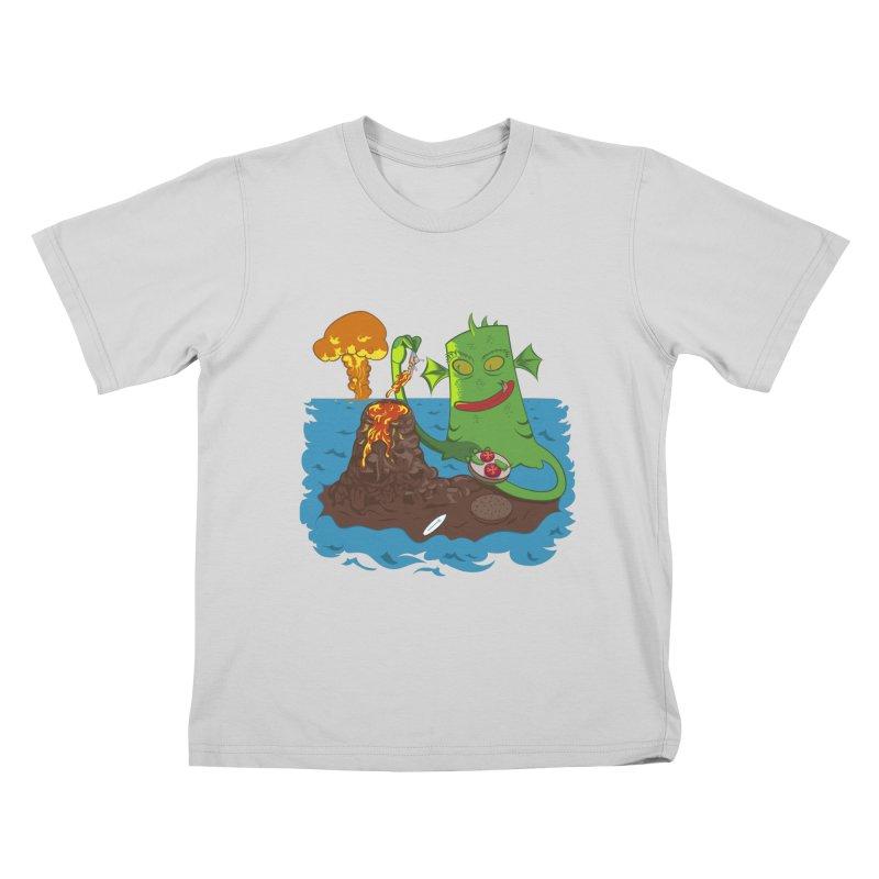 Sea monter burguer Kids T-Shirt by juliusllopis's Artist Shop