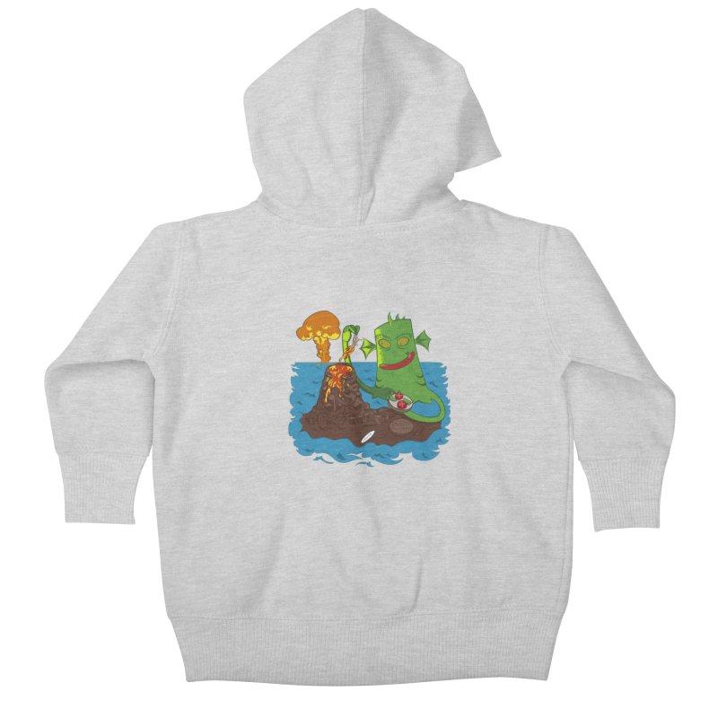 Sea monter burguer Kids Baby Zip-Up Hoody by juliusllopis's Artist Shop