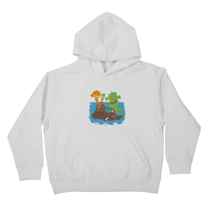 Sea monter burguer Kids Pullover Hoody by juliusllopis's Artist Shop
