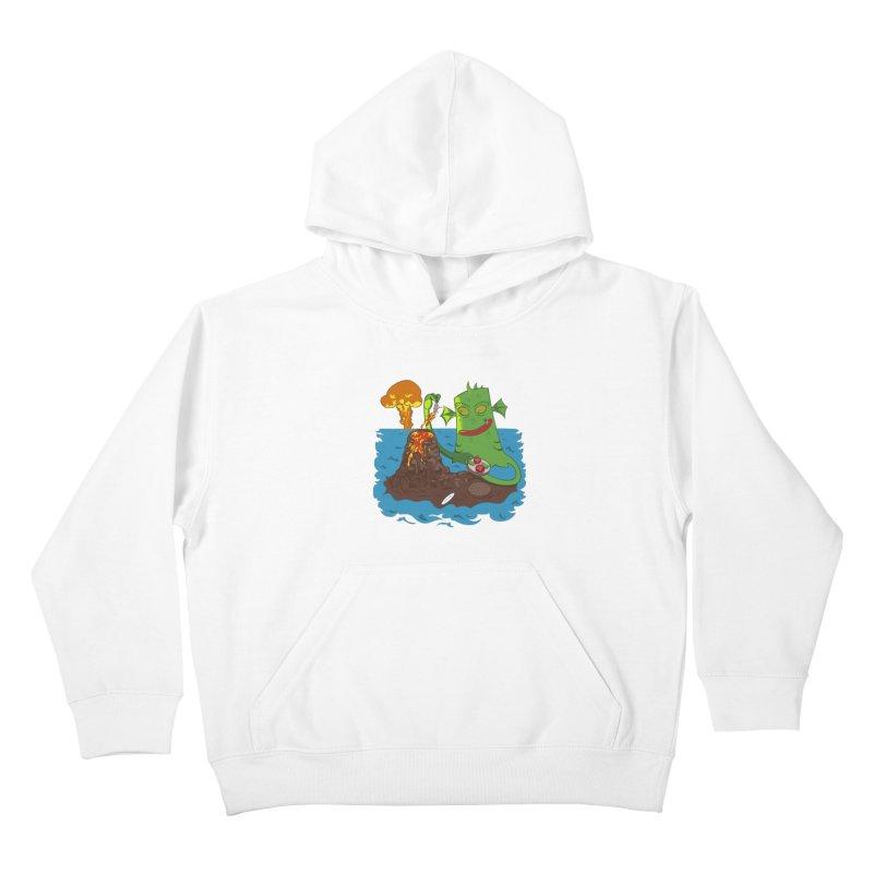 Sea monter burguer Kids Pullover Hoody by juliusllopis's Artist Shop