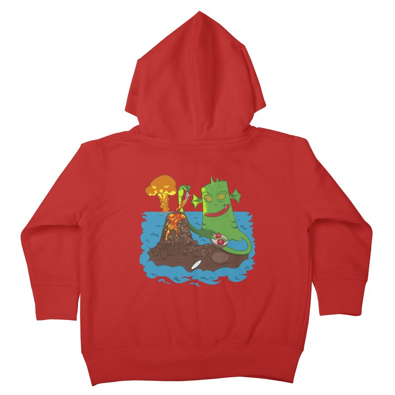 Sea monter burguer Kids Toddler Zip-Up Hoody by juliusllopis's Artist Shop