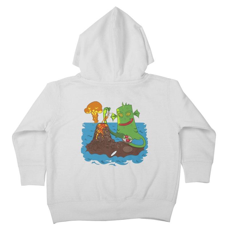 Sea monter burguer Kids Toddler Zip-Up Hoody by juliusllopis's Artist Shop