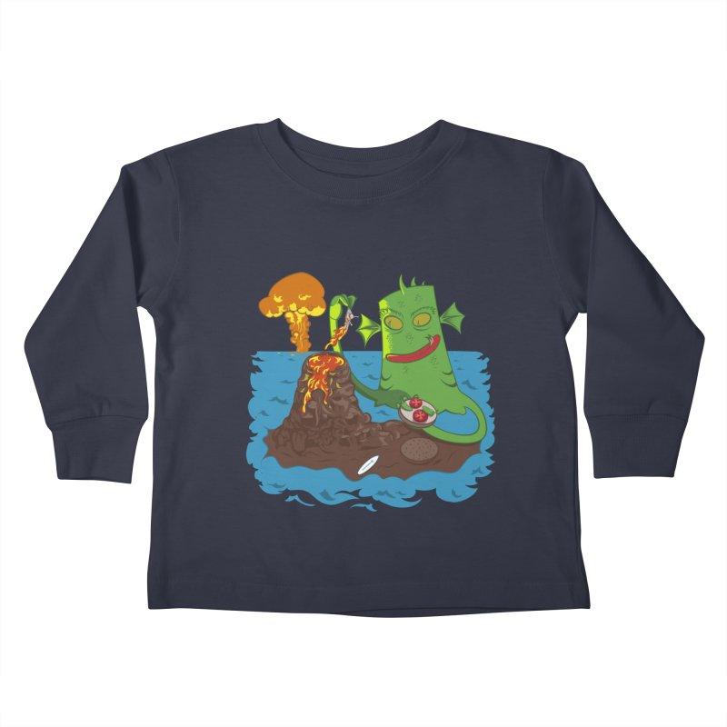 Sea monter burguer Kids Toddler Longsleeve T-Shirt by juliusllopis's Artist Shop