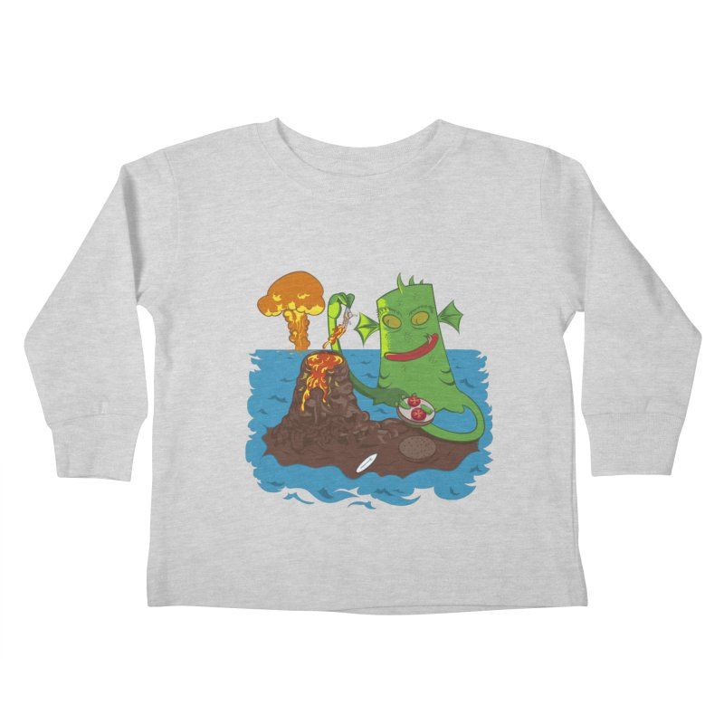 Sea monter burguer Kids Toddler Longsleeve T-Shirt by juliusllopis's Artist Shop