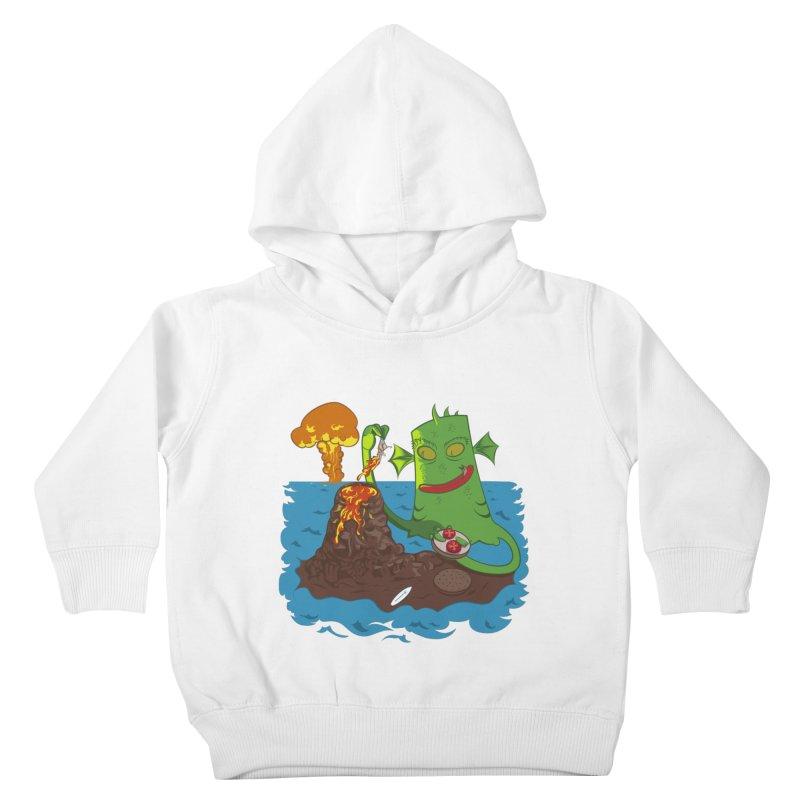 Sea monter burguer Kids Toddler Pullover Hoody by juliusllopis's Artist Shop