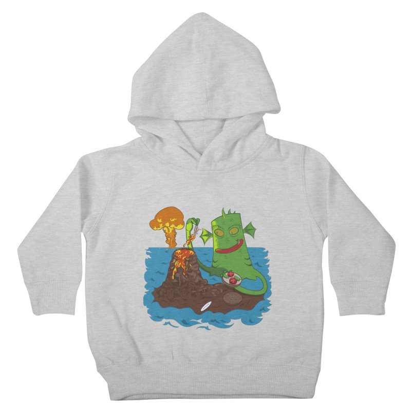 Sea monter burguer Kids Toddler Pullover Hoody by juliusllopis's Artist Shop