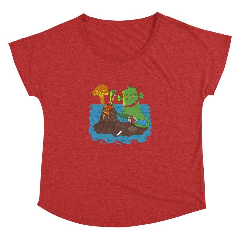 Sea monter burguer Women's Dolman by juliusllopis's Artist Shop