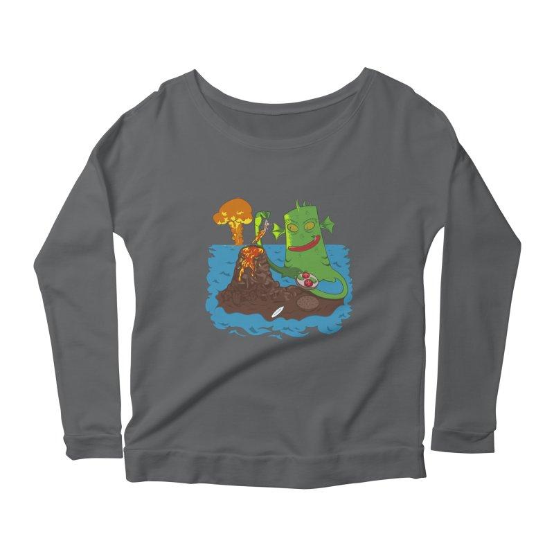 Sea monter burguer Women's Scoop Neck Longsleeve T-Shirt by juliusllopis's Artist Shop