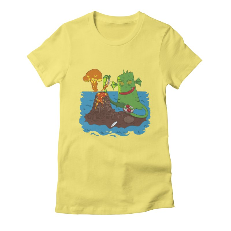Sea monter burguer Women's Fitted T-Shirt by juliusllopis's Artist Shop