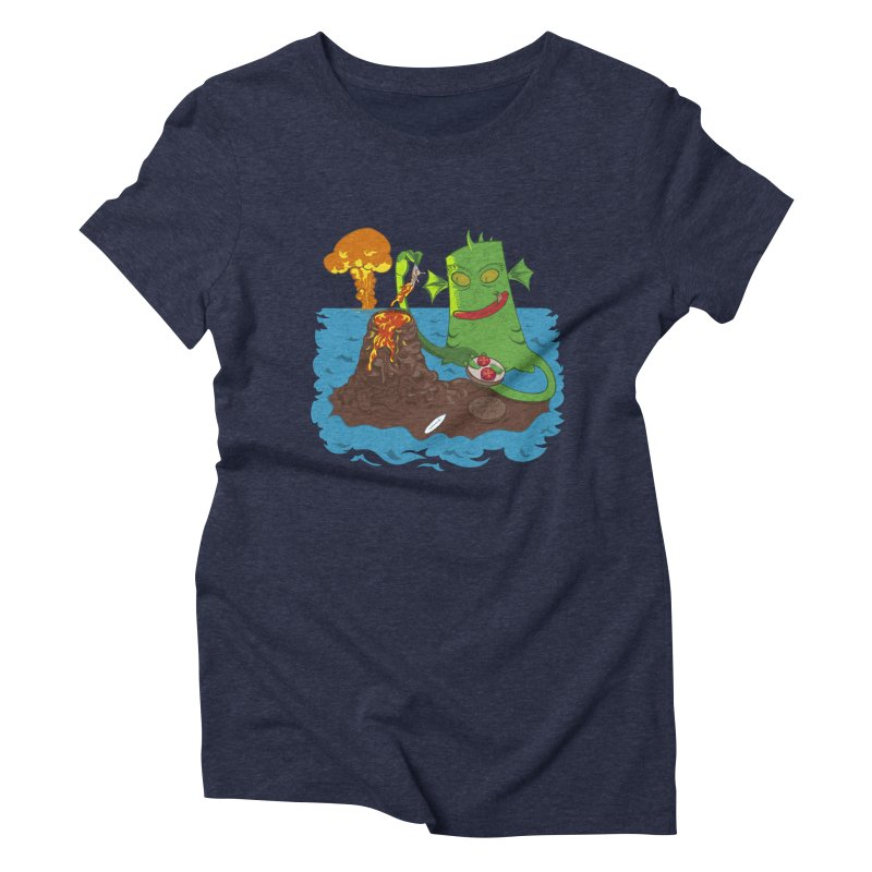 Sea monter burguer Women's Triblend T-Shirt by juliusllopis's Artist Shop
