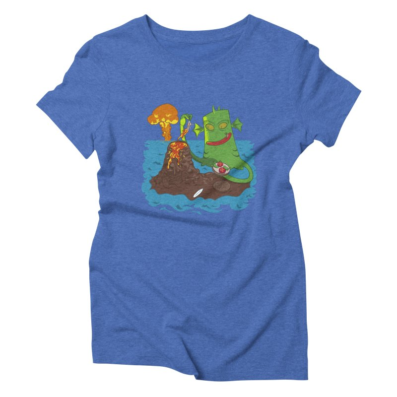 Sea monter burguer Women's Triblend T-shirt by juliusllopis's Artist Shop