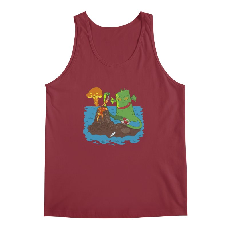 Sea monter burguer Men's Tank by juliusllopis's Artist Shop