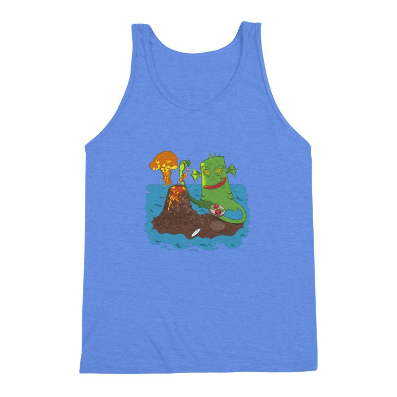 Sea monter burguer Men's Triblend Tank by juliusllopis's Artist Shop