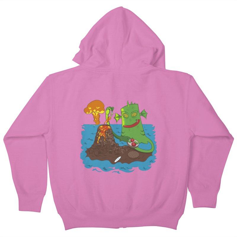 Sea monter burguer Kids Zip-Up Hoody by juliusllopis's Artist Shop