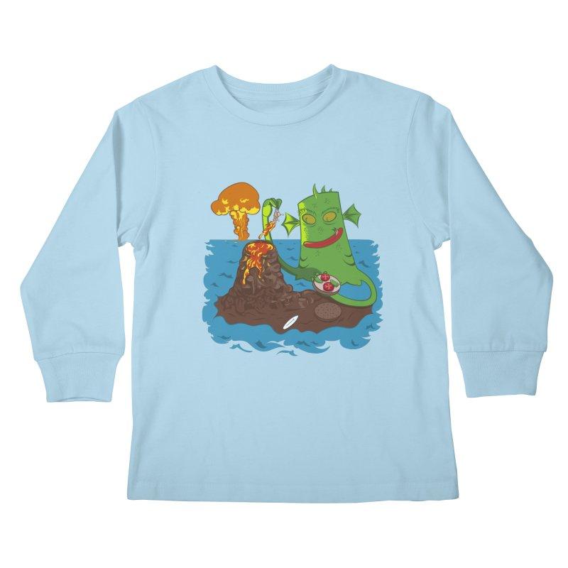Sea monter burguer Kids Longsleeve T-Shirt by juliusllopis's Artist Shop