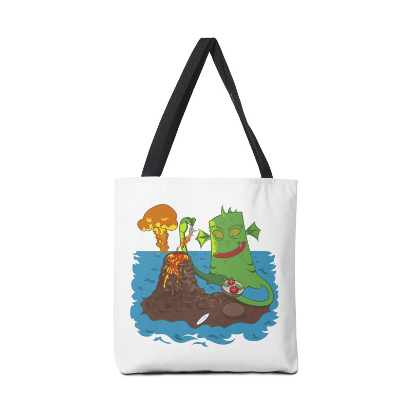 Sea monter burguer Accessories Bag by juliusllopis's Artist Shop