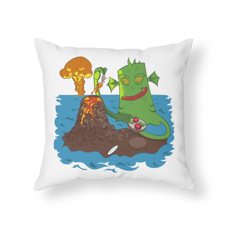 Sea monter burguer Home Throw Pillow by juliusllopis's Artist Shop