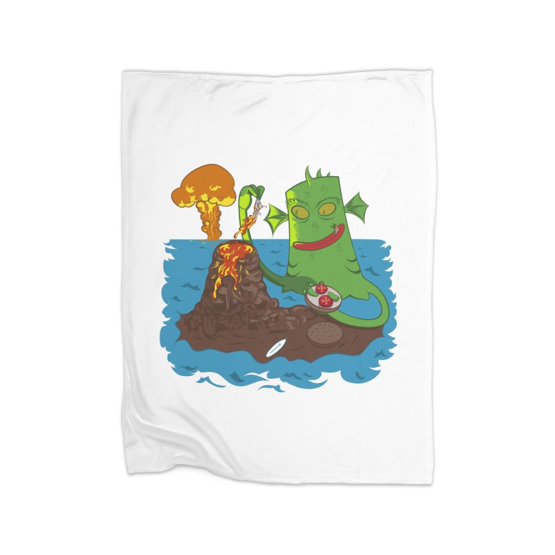 Sea monter burguer Home Blanket by juliusllopis's Artist Shop