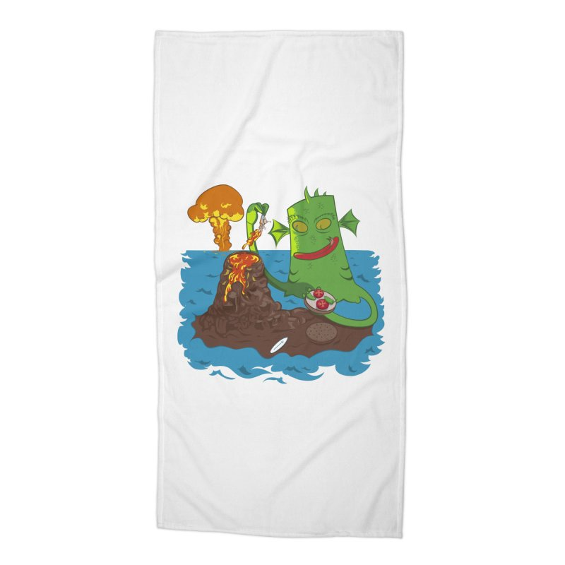 Sea monter burguer Accessories Beach Towel by juliusllopis's Artist Shop