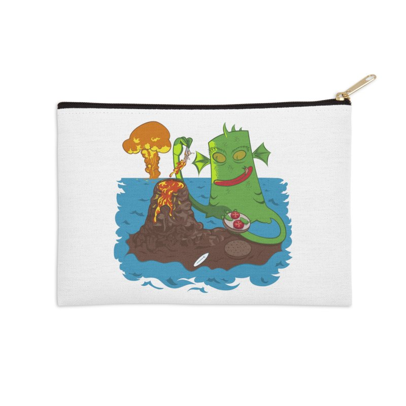 Sea monter burguer Accessories Zip Pouch by juliusllopis's Artist Shop
