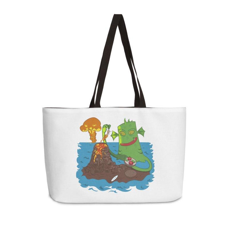 Sea monter burguer Accessories Weekender Bag Bag by juliusllopis's Artist Shop