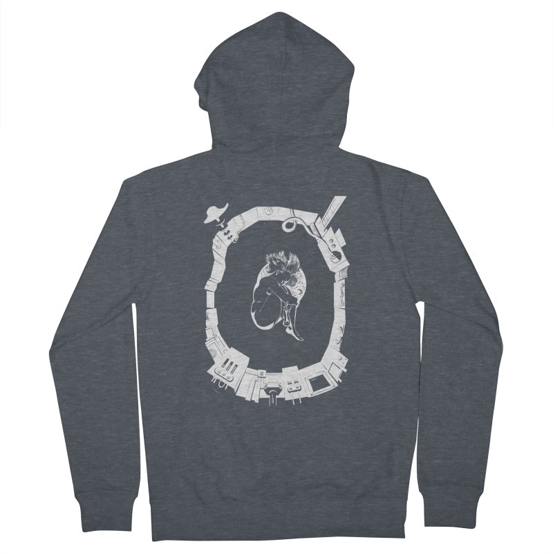 Alone in space Men's French Terry Zip-Up Hoody by juliusllopis's Artist Shop