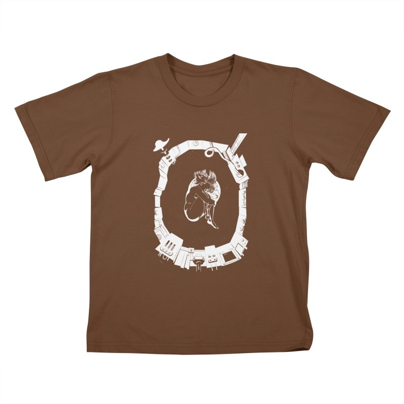 Alone in space Kids T-Shirt by juliusllopis's Artist Shop
