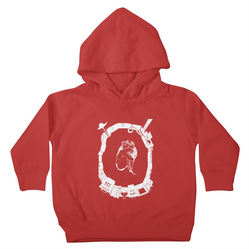Alone in space Kids Toddler Pullover Hoody by juliusllopis's Artist Shop