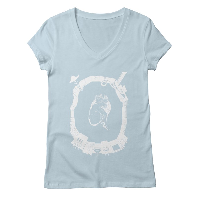 Alone in space Women's V-Neck by juliusllopis's Artist Shop
