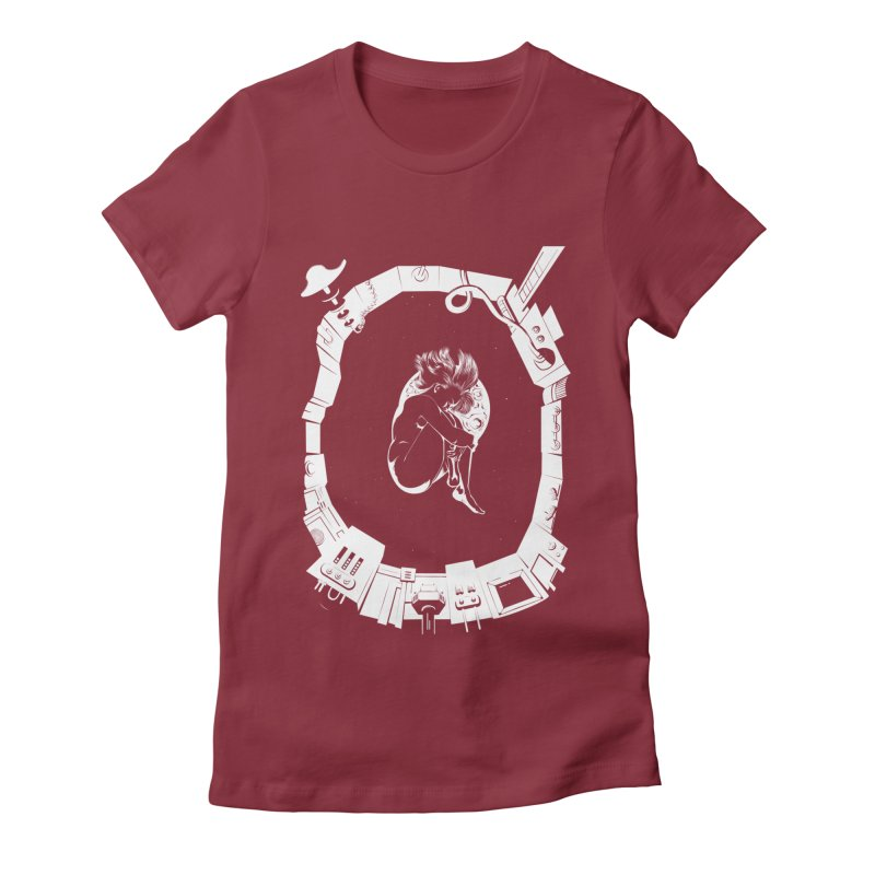 Alone in space Women's T-Shirt by juliusllopis's Artist Shop