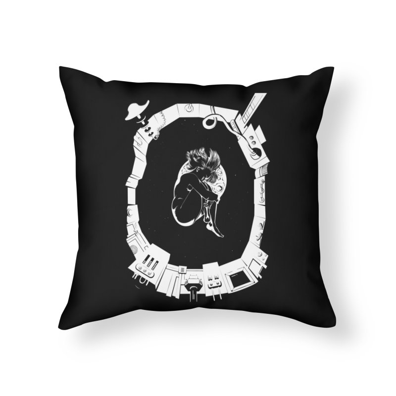 Alone in space Home Throw Pillow by juliusllopis's Artist Shop