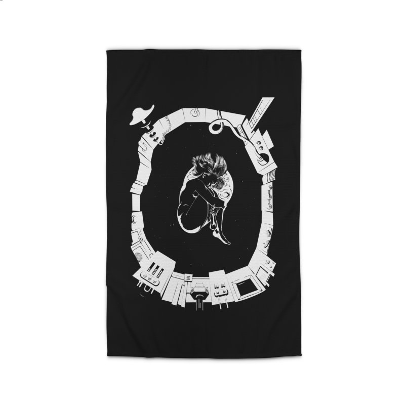 Alone in space Home Rug by juliusllopis's Artist Shop